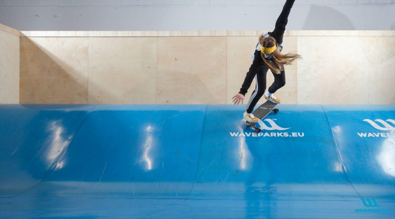 Surf skate wave training