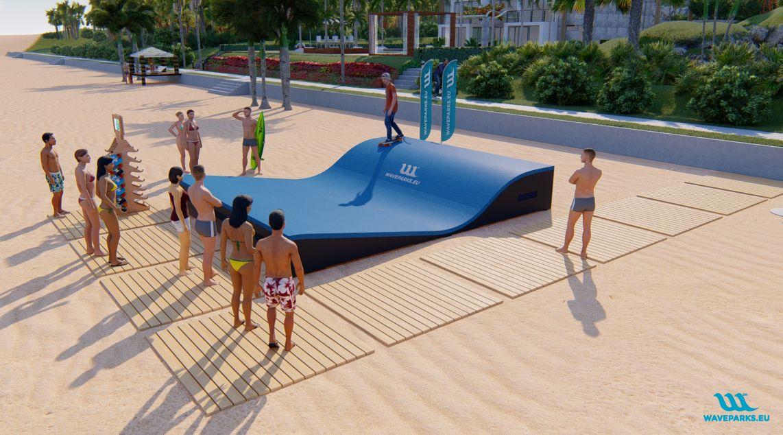 W1 Waveparks - Carver skateboarding