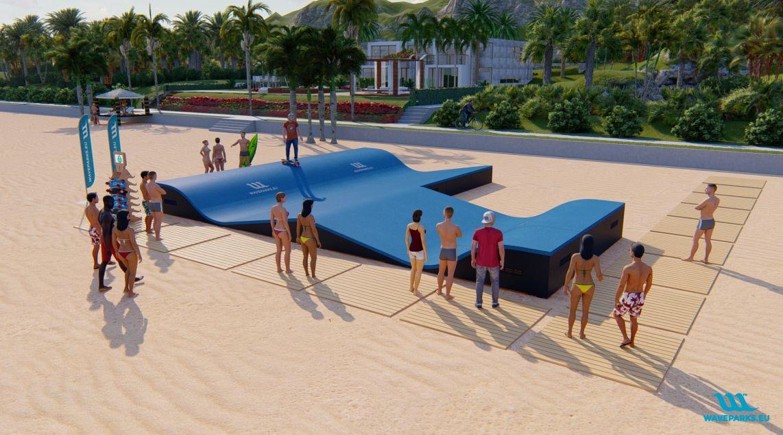 W5 Waveparks- Carver skateboard