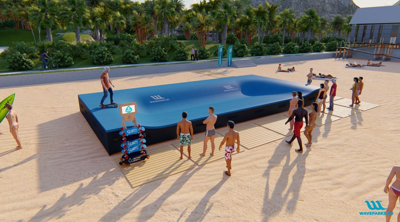 W7 Waveparks - Carver skateboard