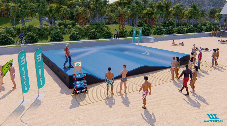 W8 Waveparks - Carver skateboaring
